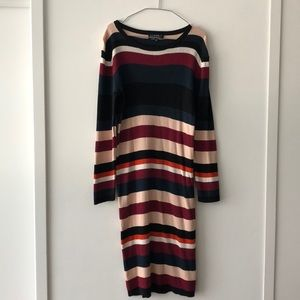 Eloquii  Multicolor Striped Sweater Dress!